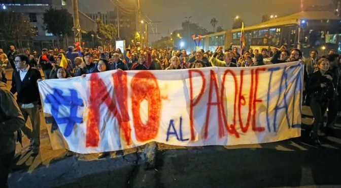 Crónica desde Quito, capital de la revuelta contra Lenin Moreno