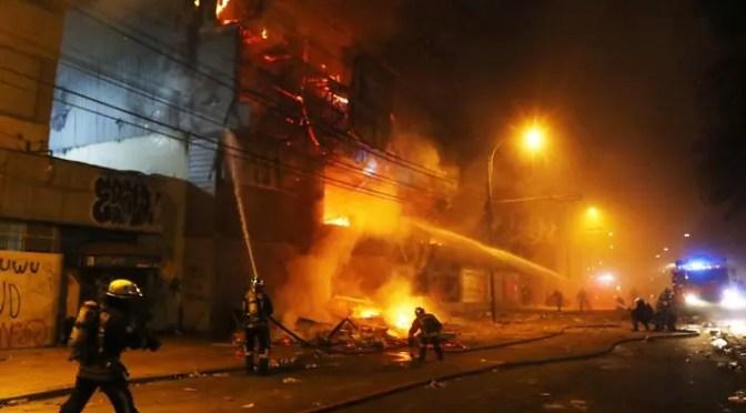 La destrucción de Valparaíso durante estado de emergencia