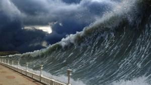 Recreación de tsunami. Fuente: eltiempo.es