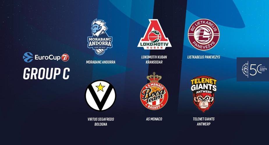 El calendari del Morabanc Andorra a l'EuroCup