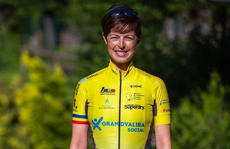 """Mari Martínez continua difonent """"la donació a Andorra"""" participant a la Volta als Ports"""