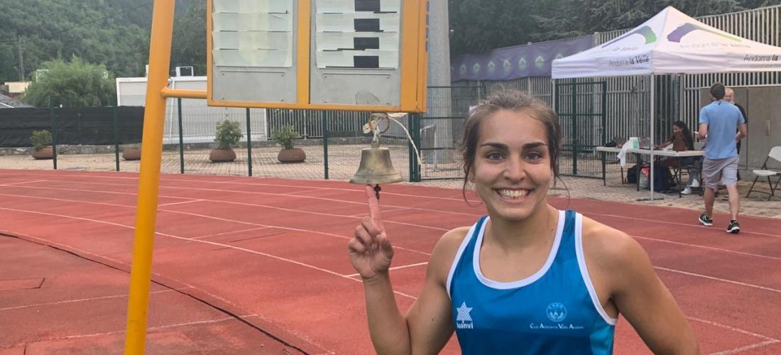 Xènia Mourelo, rècord d'Andorra dels 3000m obstacles