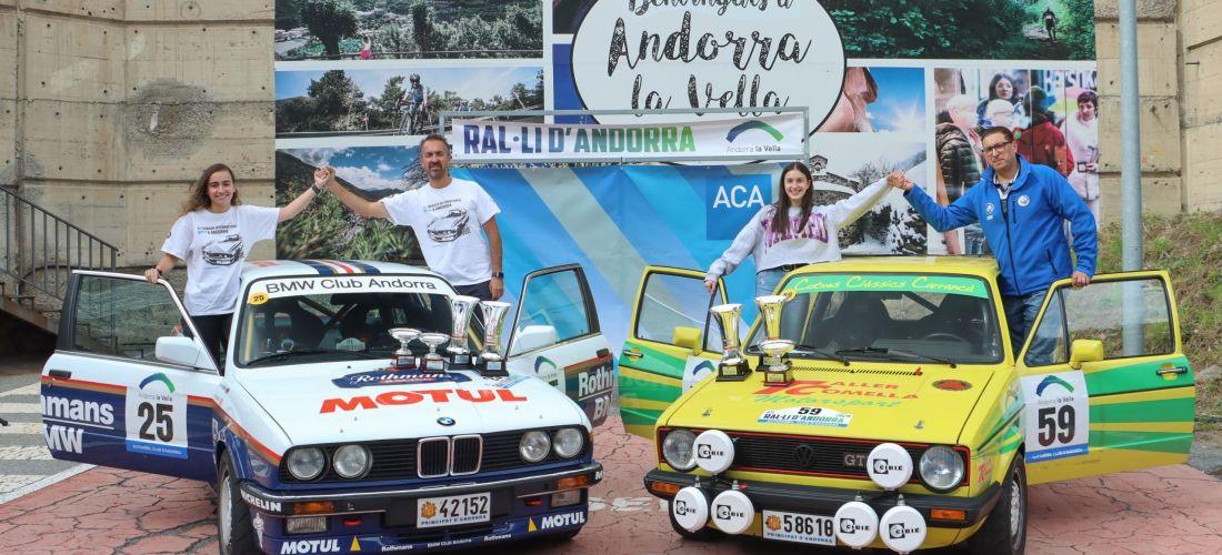 Joan i Sònia Carrancà (BMW 325iX) guanyen el 49è Ral·li d'Andorra Històric