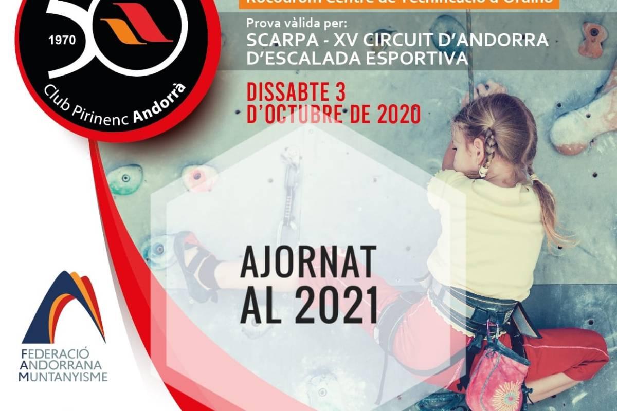 Ajornat l'Open d'Escalada Esportiva 2020