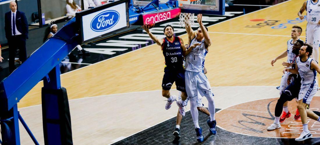 El Morabanc Andorra guanya 87-82 al Burgos amb un arbitratge lamentable