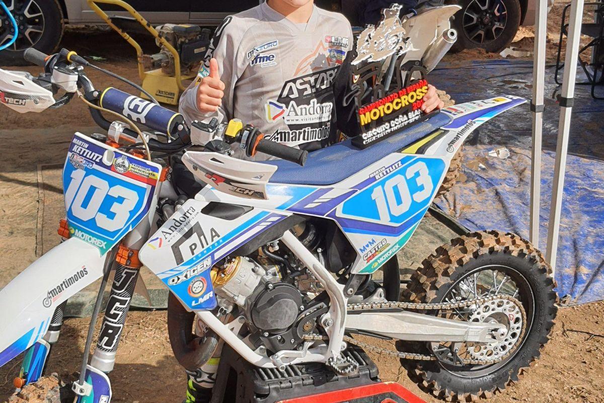 Martin Kettlitz, campió d'Espanya d'MX65
