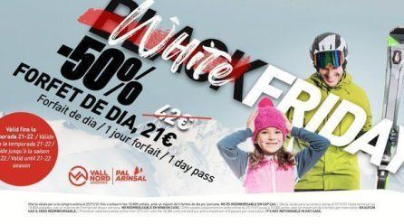 White Friday a Vallnord – Pal Arinsal amb 10.000 forfets de dia al 50%