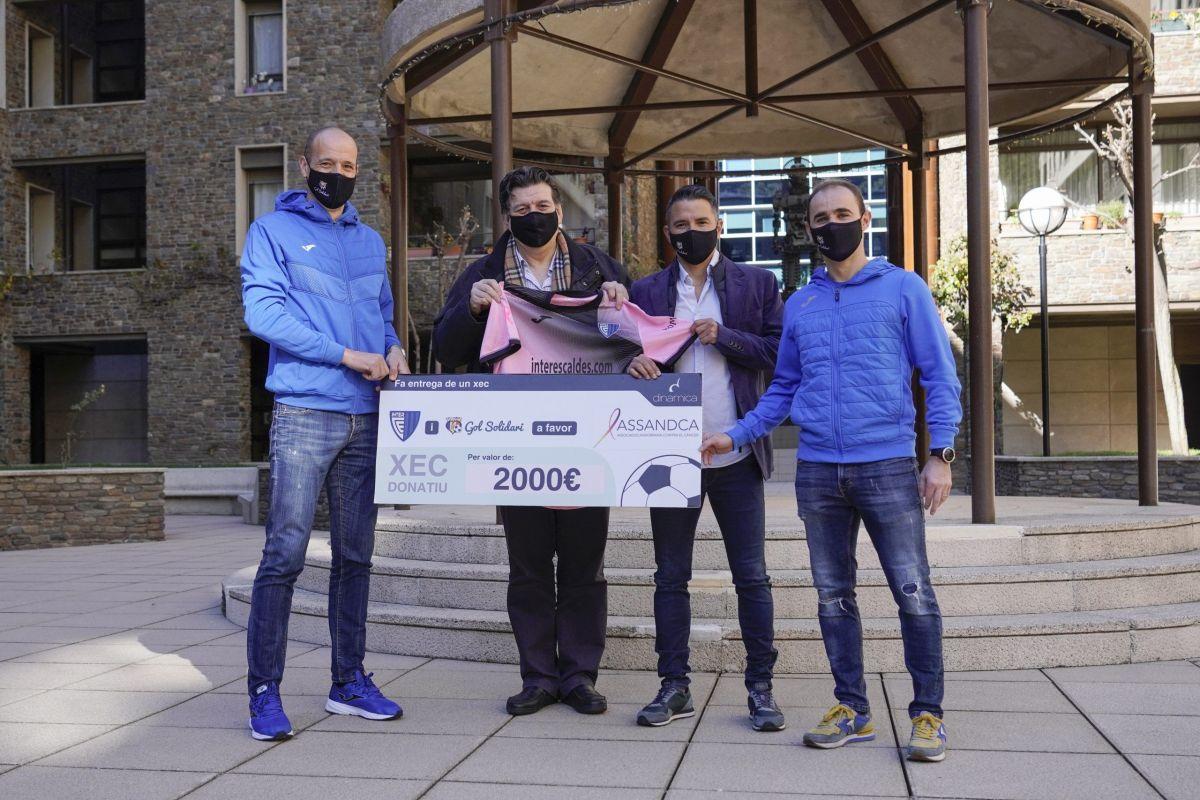 Gol Solidari lliura 2000 euros a ASSANDCA