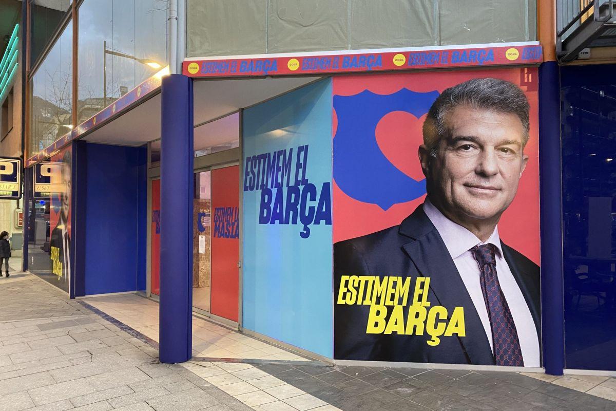 Joan Laporta obre una seu electoral a Andorra la Vella
