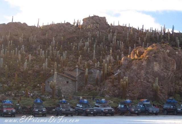 Isla del Pescado o Incahuasi en el Salar de Uyuni