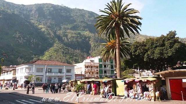 Centro de la ciudad de Baños, Ecuador