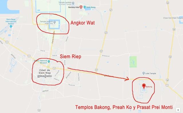 Ubicación del Templo Bakong