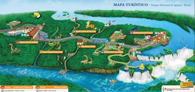 Plano del Parque Nacional Do Iguazu
