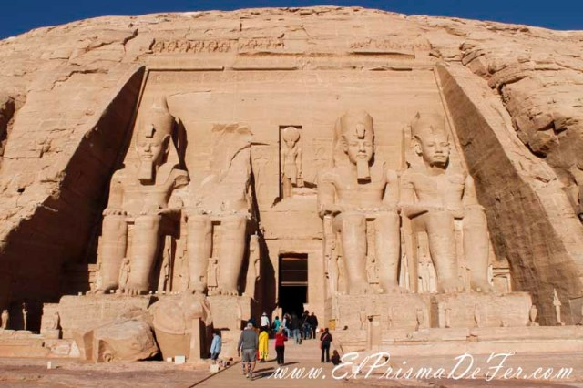 Templo Abu Simbel en Asuan, Egipto