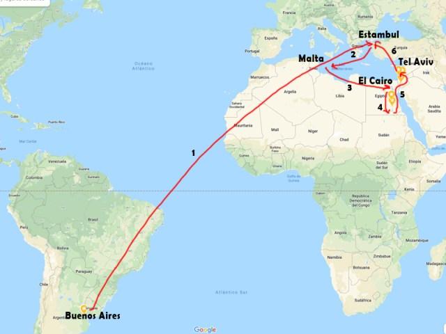 Itinerario de Viaje por Estambul, Malta, Egipto, Jordania e Israel