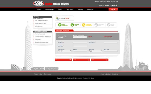 Paso 7 de como comprar boletos tren en Egipto por internet