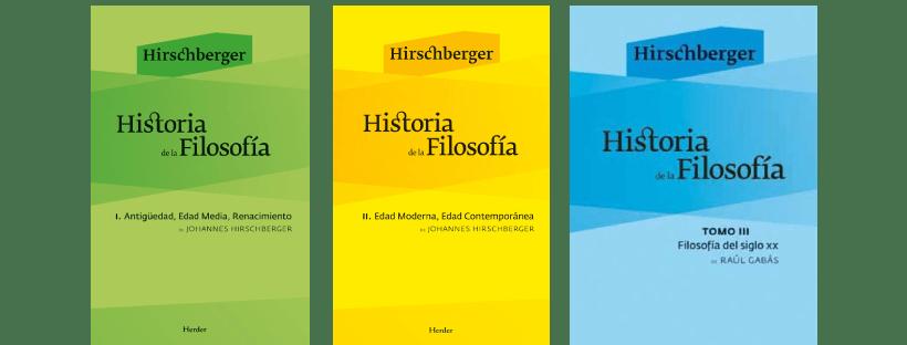 Historia de la Filosofía de Johannes Hirschberge en pdf