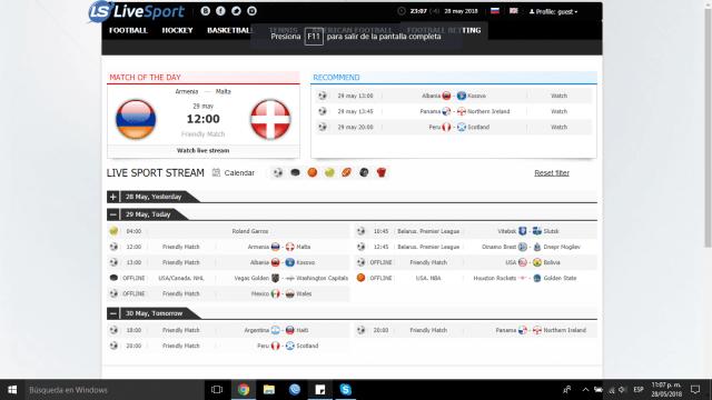 Ver futbol en vivo - pagina LIVESPORT.WS