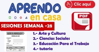 Experiencia de Aprendizaje Desarrollado de Nivel secundaria de : Ciencias Sociales, comunicación , EPT y tutoría SEMANA – 28