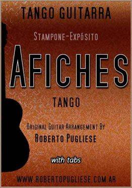 Tapa de Afiches tango partitura de guitarra