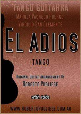 El adios tango - tapa de la partitura para guitarra , arreglo del maestro Roberto Pugliese