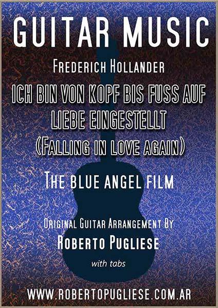 Fallingin love again - tapa de la partitura para guitarra por Roberto Pugliese