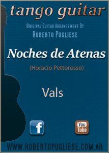 Noches de Atenas tapa del vals criollo para guitarra en un arreglo del maestro argentino Roberto Pugliese