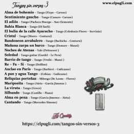 Contra Tapa del cd Tangos sin versos 3. Download. 20 Tangos instrumentales en guitarra por Roberto Pugliese