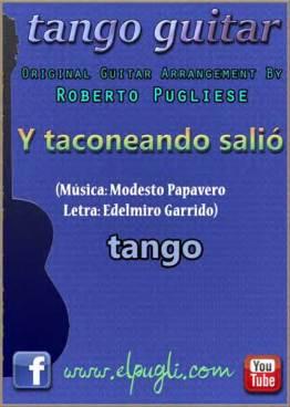Y Taconenado Salio. Tapa de la partitura original para guitarra con video y tablatura por Roberto Pugliese