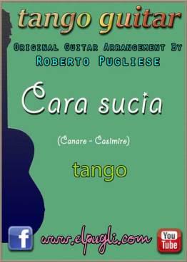Cara sucia - Cover de la partitura para guitarra del tango.