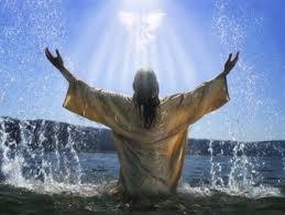 bautismo, bosquejo, jesus, espiritu santo, bautizó