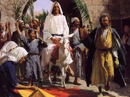 Jesus en Jerusalem, entrada triunfal, profecia cumplida, profecías