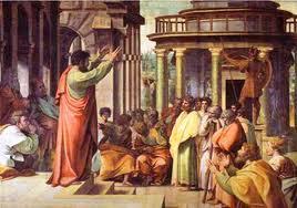 Apostol Pablo predicando en Tesalónica