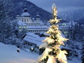 navidad, arbol, nieve