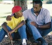 padre, hijo, conviviendo, enseñando, amor