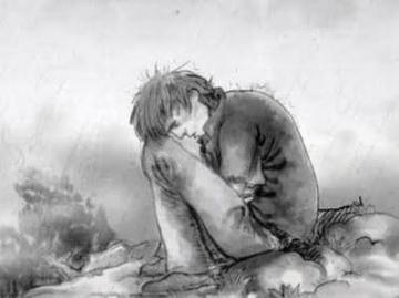 hombre en desesperacion, hombre triste, tristeza, fracaso, bosquejo