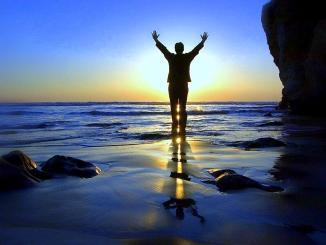 vida eterna, atardecer, playa
