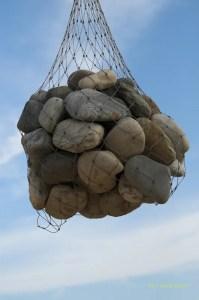 bolsa, piedra, piedritas en la bolsa, bosquejo, piedras