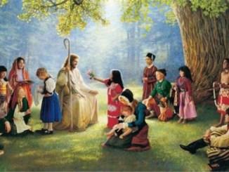 la viña del señor, niños, jesus