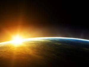 luz, amanecer, jesus, mundo