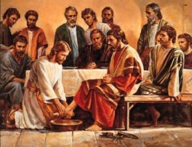 apóstoles, discípulos, jesús lavando los pies