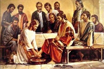 jesús, discipulos, humillación, lavo los pies