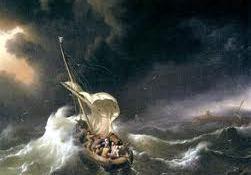 paz en la tormenta, barco, tormenta, problemas