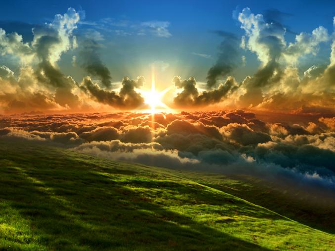 reino, Dios, paisaje atardecer