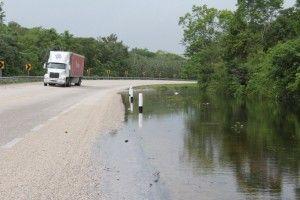 Inundación parcial de vía federal2