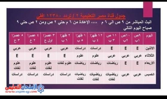 live تردد قناة مصر التعليمية 2021 على نايل سات لمتابعة فقرات ودروس الرياضة واللغة العربية والعلوم