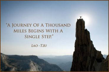 Lao Tzu Quote - A Journey Of A Thousand Miles Begins With A Single Step