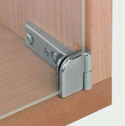 Glass Door Hinge - 180 Deg Openning - Matt Nickel Finish - Price Per Pair 1