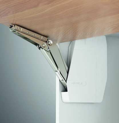Hafele Lift Up Fitting - Free Flap - 350-650mm Cabinet Height - 3.4 To 7kg 1