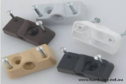 Plastic Knock Down Fitting - Quick Clip - Beige 1